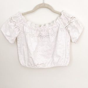 Francesca's Cropped Blouse NWT